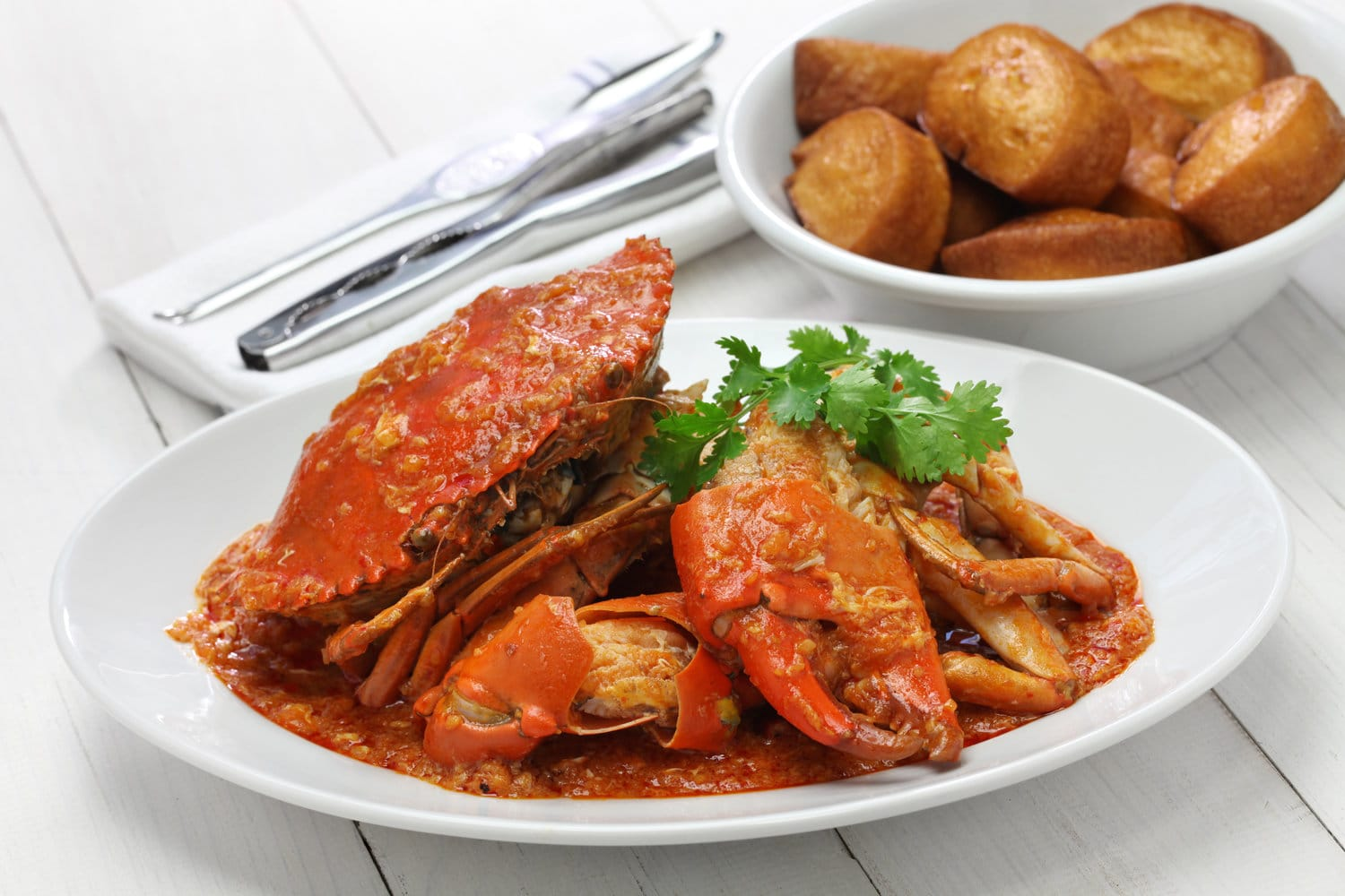 Singapore Chili Crab With Fried Mantou