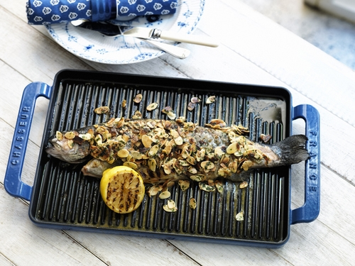 VIVE Rainbow Trout with Almond butter Sauce by Manu Feildel