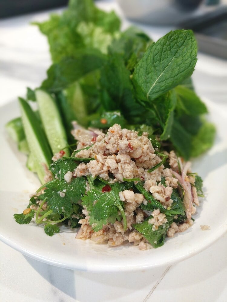 Chicken And Herbs Larb Salad Phuket
