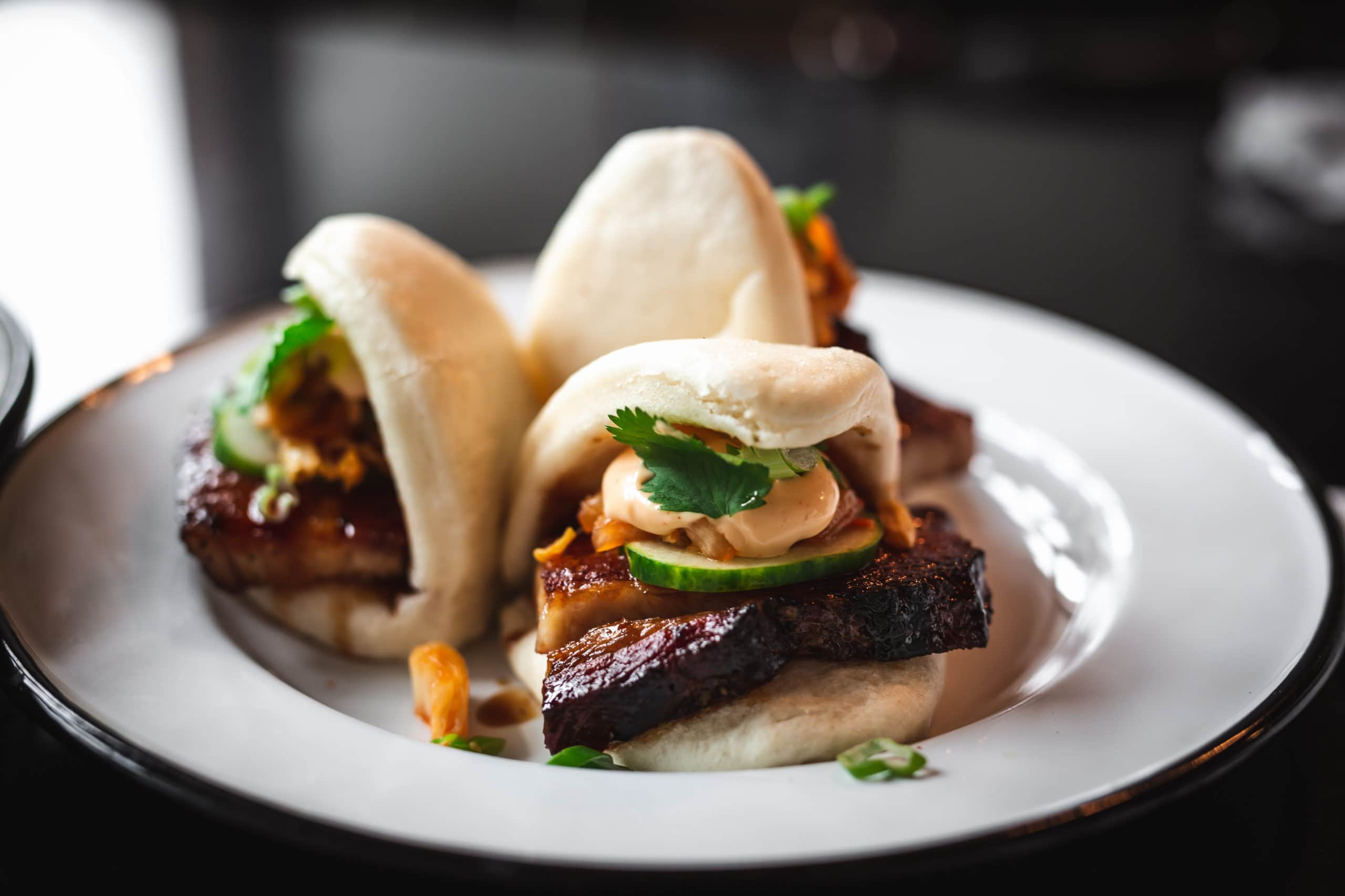 Pork Belly Bao Buns Asian Street Food