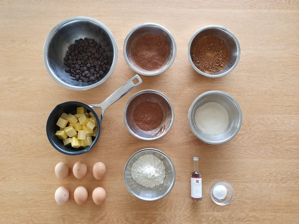Chocolate Brownie - Mise en place